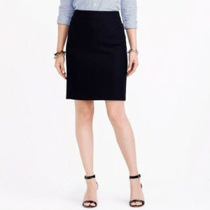 J Crew 0 Black Wool Straight Pencil Skirt Career